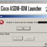 [Cisco]ASDMで「Unable to launch device manager from」のエラーで接続できないならこれを試せ!の巻